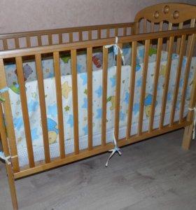 Детский матрасик и кроватка