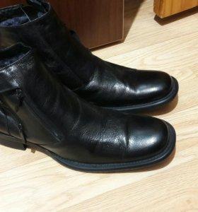Ботинки зима кожа!