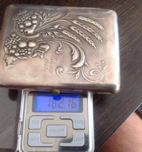 Портсигар серебрянный