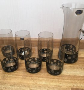 Кувшин и 6 стаканов Bogemia