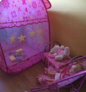 Игровая палатка и набор игрушек