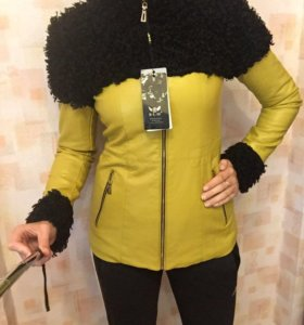 Куртка утеплённая кожанка