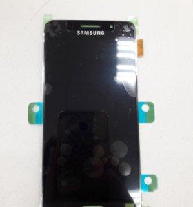 Дисплей Samsung A310F(A3 2016)+тачскрин (тем.-син)
