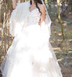 Свадебная накидка айвори