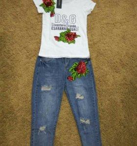 Новые джинсы бойфренды D&G