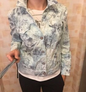 Куртка ветровка джинсовка