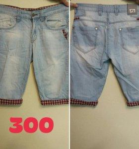 Мужские джинсовые бриджы