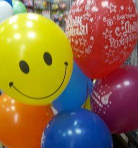 Яркие,красивые воздушные шарики с гелием