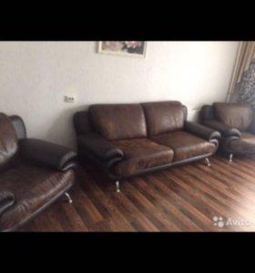 Продаём диван и два кресла