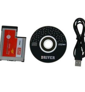 2 Порта USB 3.0 ExpressCard Карты ASM Чип 54 мм PC