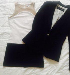 Платье и пиджак (Zara), трикотажные, xs, s