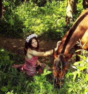 Фото с лошадью.