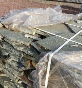 Златолит серебристый плитняк природный камень