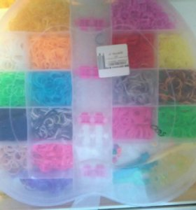 Большой набор резинок для плетения + разные станки