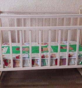 Детская кроватка, матрас, комплект, бортики