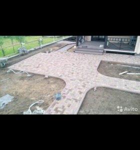 Асфальтирование и укладка тратуарной плитки