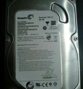 Жесткий диск Seagate 500 гб 7200 об/мин SATA III