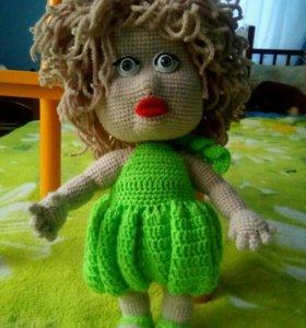 Кукла вязаная Люся