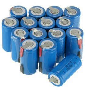 Аккумуляторы Ni-Cd на шуруповерт 1,2 v / 1800 mAh