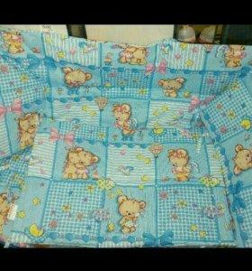 Бортики для детской кроватки. Новое в уп.