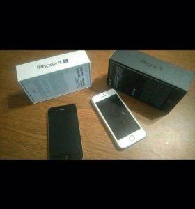 Цена за все!iPhone 5Gb. iPhone 4s 16Gb.