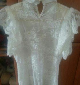 Блузка ажурная.