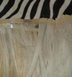 Натуральные волосы для ленточного наращивания