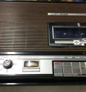 Магнитофон кассетный , советский , иж302 .