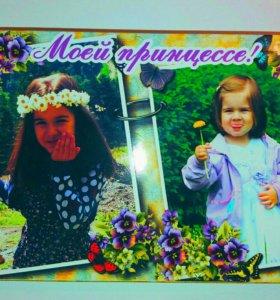 """Шоколадная коробочка-фотобокс""""Любимой племяннице"""""""