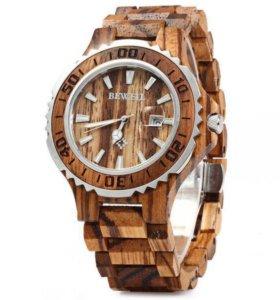 Деревянные наручные часы Bewel