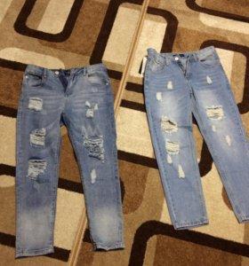 Стильные джинцы 29 размера новые,2 пары по 1500