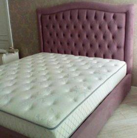 Кровать в каретной стяжке от производителя