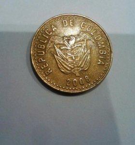 Колумбия 100 песос обмен