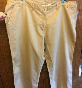 Женские брюки, лен, новые, но без бирок,2 пары