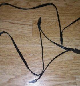 Модульный кабель Molex-папа - 3SATA от Ice Hammer