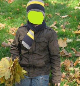 Куртка на мальчика коричневая