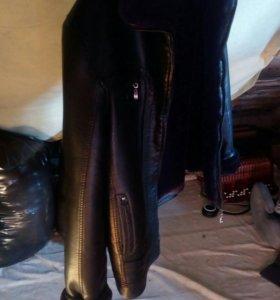 Куртка кожанная зимняя