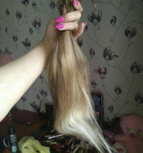 Волосы натуральные 40-45 см