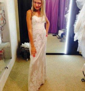 Свадебное платье!На высокий рост от 170- 172см.