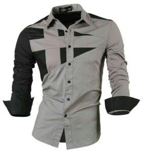 Рубашка приталенная размер 50-52