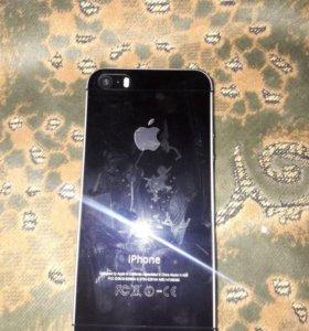 Iphone5s все работает впереди и зади брон стекло