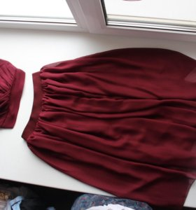 Топ и юбка(шифон)