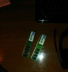 2 планки памяти по 1Gb
