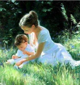 Картина раскраска по номерам- мама