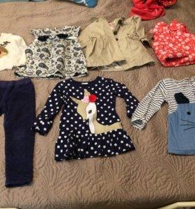 Детские штаны и кофта mothercare платья и т.д.