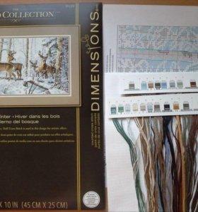"""Набор для вышивания """"woodland winter"""" dimensions"""