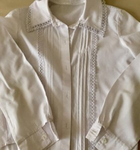 Блуза белая, б/у