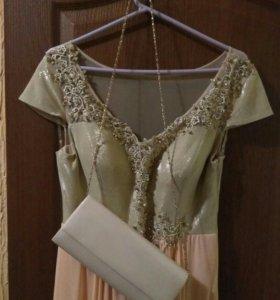 Шикарное платье р.48-50