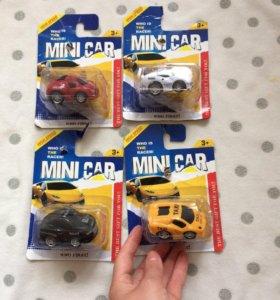 Машинки игрушечные, новые.