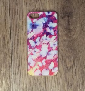 Чехол на iPhone 5 5s SE с бабочкам